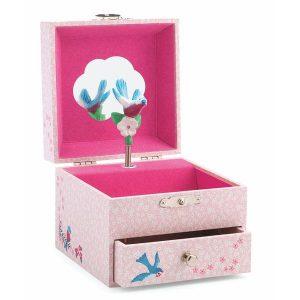 Coffret à bijoux musical rose pour petite fille