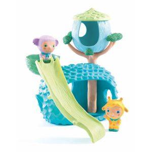 Personnage pour bébé avec cabane en plastique