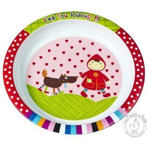 Assiette pour enfant Petit chaperon rouge