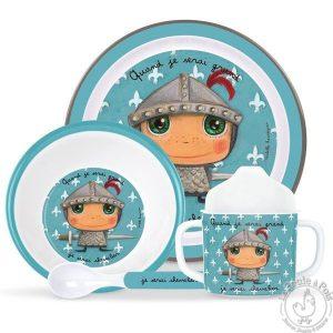 Vaisselle pour apprendre à manger seul enfant