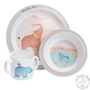 Coffret de vaisselle pour cadeau de naissance
