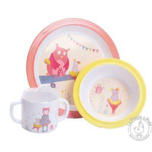 Coffret vaisselle pour petite fille bébé