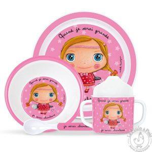 Vaisselle original rose pour fille chanteuse