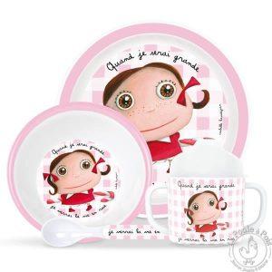 Vaisselle original rose pour petite fille