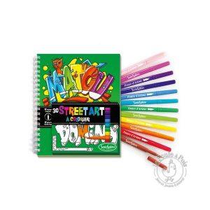 Cahier de coloriage avec feutre pinceau