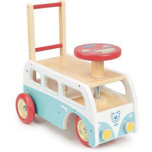 Porteur chariot de marche en bois Combi Volkswagen