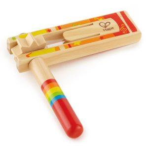 Crécelle en bois instrument de musique enfant