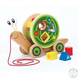 Escargot à promener Jouet à tirer jouet éveil enfant