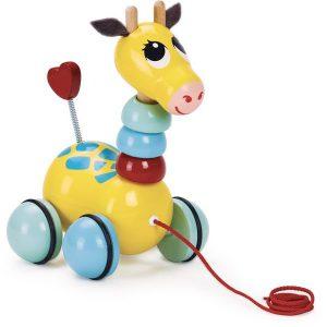Girafe à promener Jouet à tirer enfant 1 an