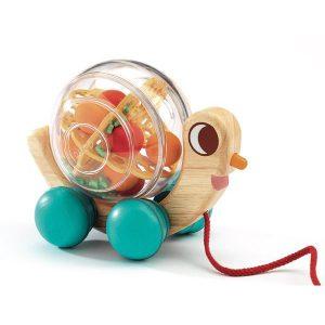 Escargot à promener jouet à tirer pour enfant