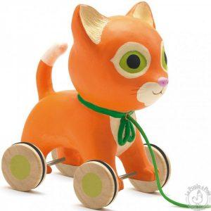 Chat à promener jouet à tirer enfant 12 mois