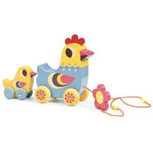 Poule à promener jouet d'éveil pour enfant 12 mois