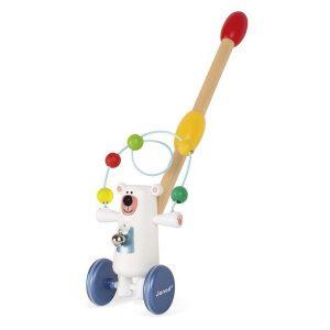 Jouet à promener jouet d'éveil en bois