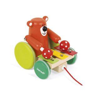 Ours à promener Jouet à tirer xylophone
