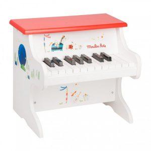 Piano en bois pour enfant piano droit blanc
