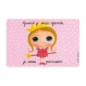Joli set de table rose pour petite fille princesse